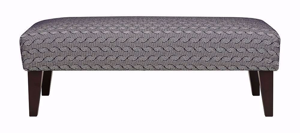 Picture of Linette Navy Ottoman