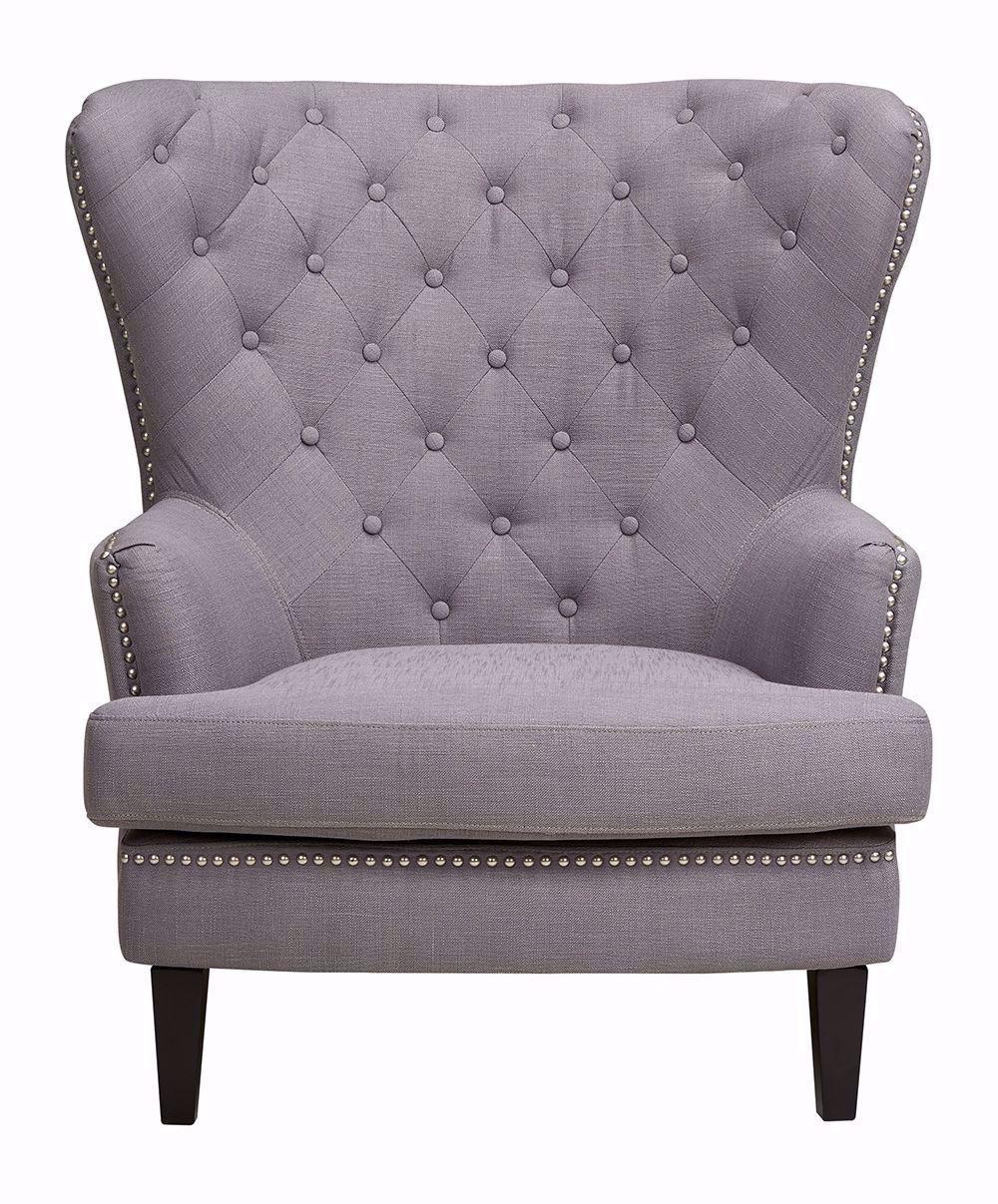 Picture of Dark Gray Linen Chair