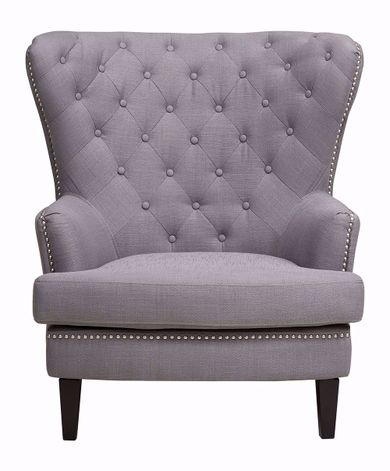 Dark Gray Linen Chair