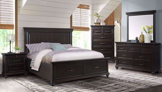 Picture of Slater Black Queen Storage Bed Set