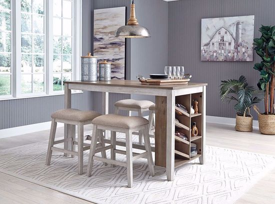 Picture of Skempton Counter Table with Four Stools