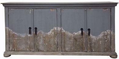Obsidiana Gray Four Door Console