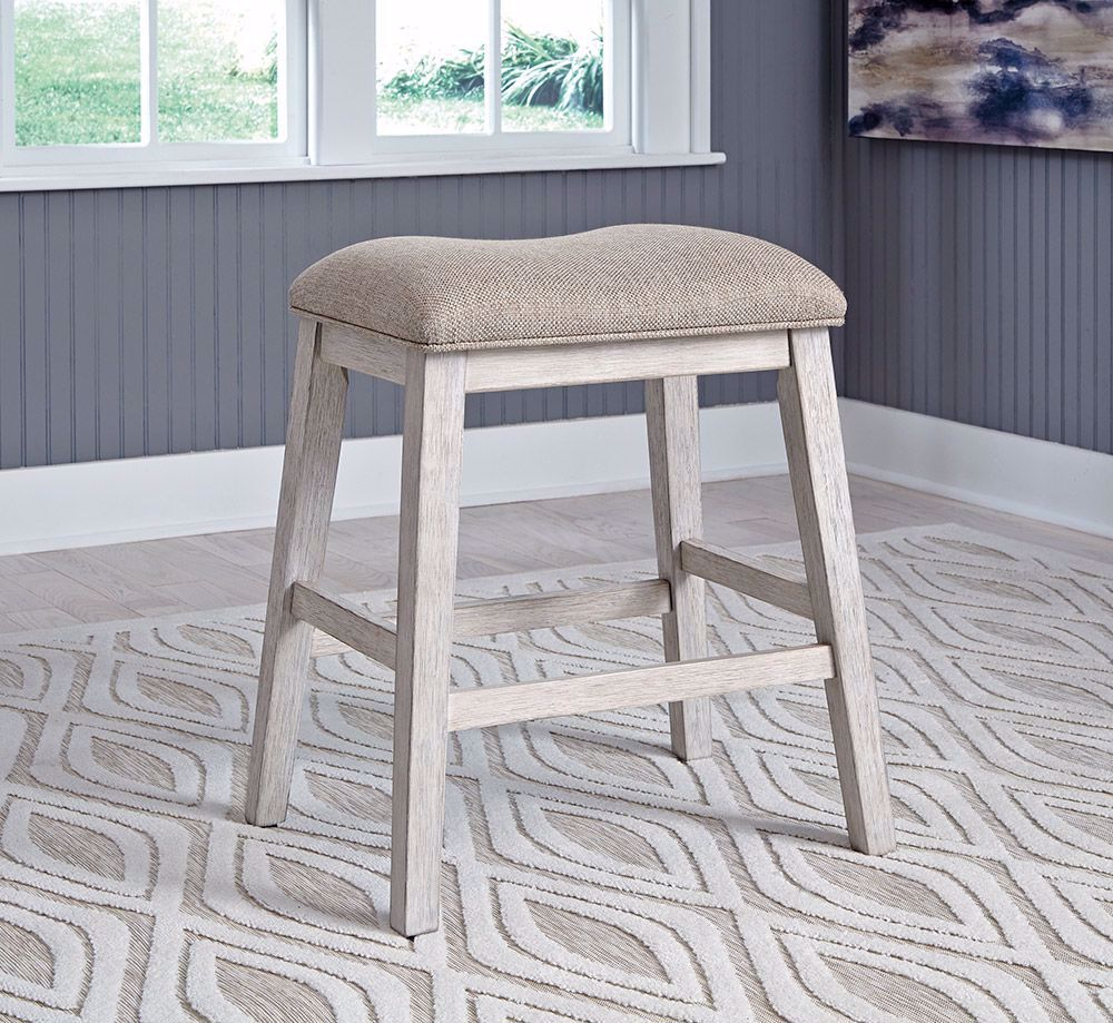 Picture of Skempton Upholstered Backless Counter Stool