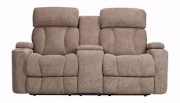 Marley Tan Console Power Reclining Loveseat