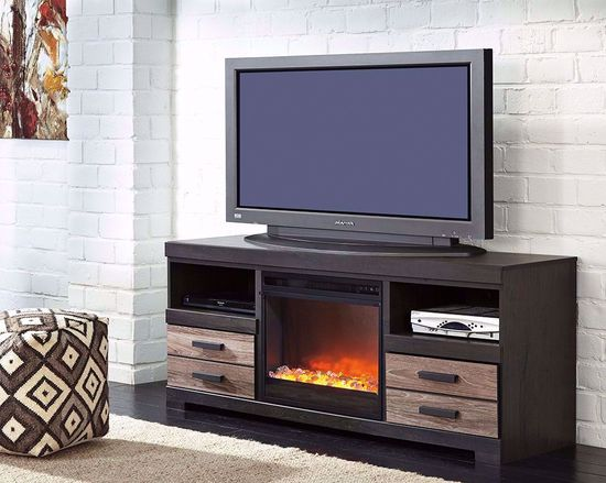 Picture of Harlinton TV Stand with Fireplace Insert