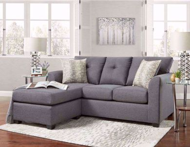 Stonewall Gray Sofa Chaise