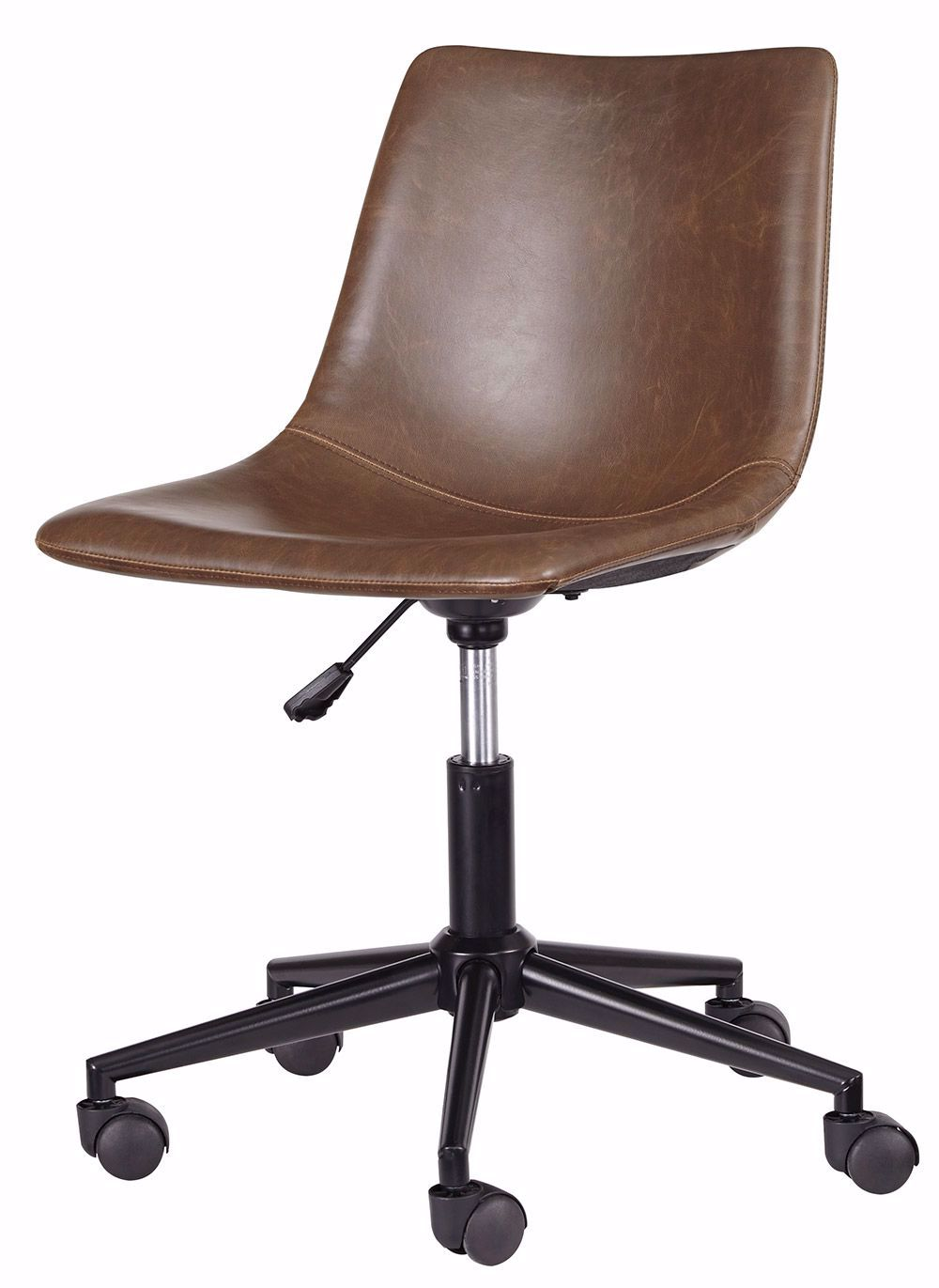 Picture of Brown Swivel Desk Chair