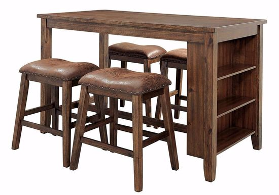 Picture of Chaleny Counter Table with 4 Backless Stools