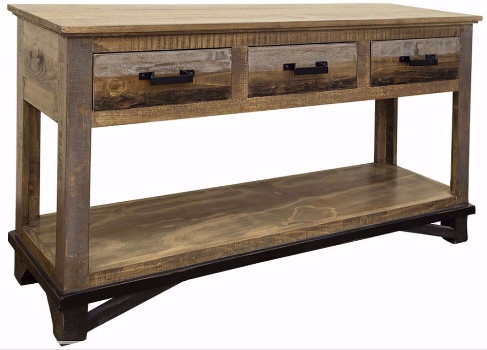 Picture of Loft Brown Three Drawer Sofa Table