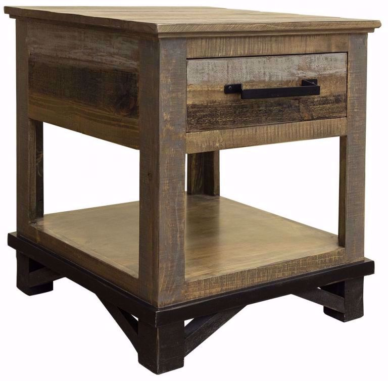 Picture of Loft Brown One Drawer End Table