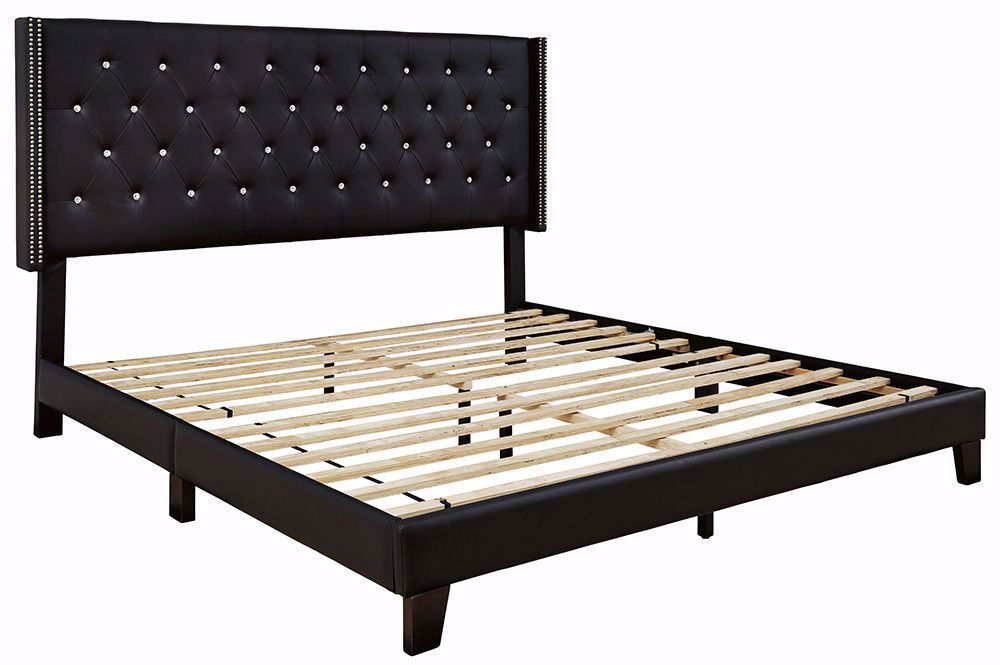 Picture of Vintasso Black King Upholstered Bed