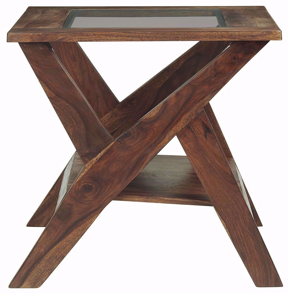 Picture of Charzine Brown Square End Table