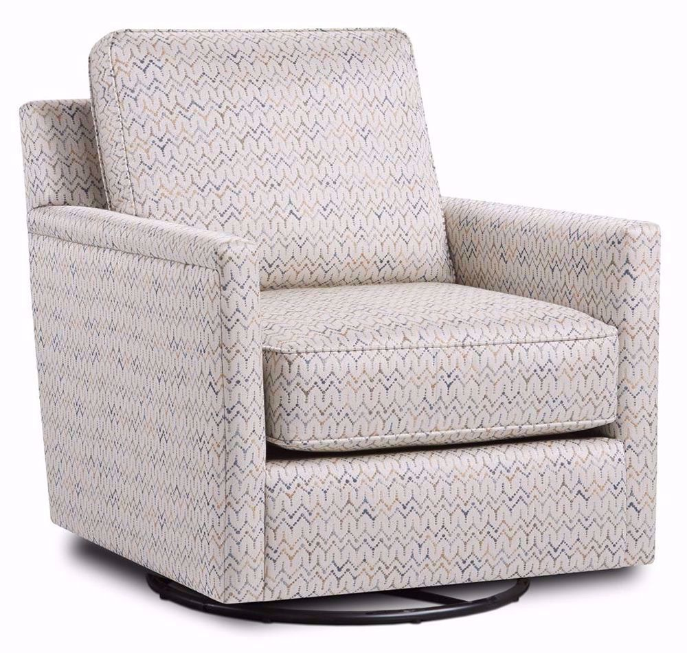 Picture of Theta Citron Swivel Glider Accent Chair