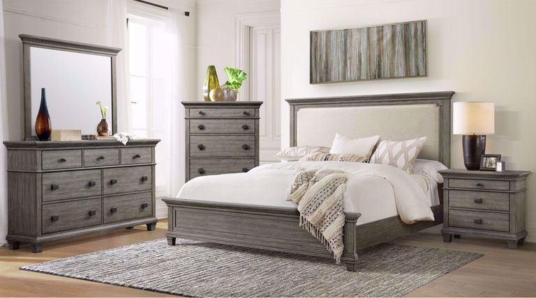 Picture of Crawford King Upholstered Bed Set
