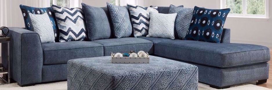 Picture of Tussah Dark Blue Two Piece Sectional