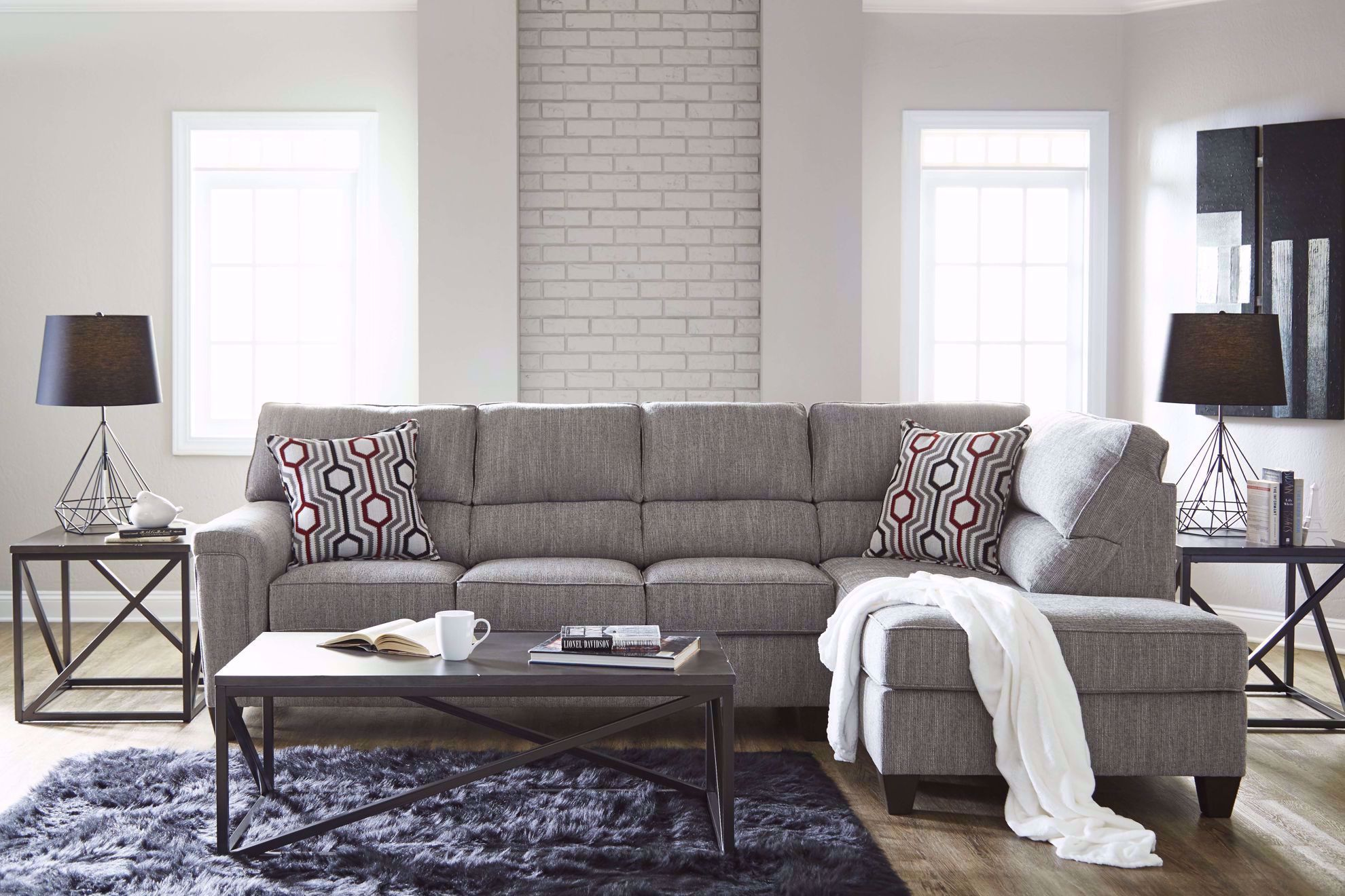 Picture of Dante Concrete 2-Piece Sectional