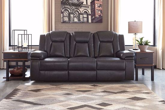 Picture of Garristown Gray Brown Power Reclining Sofa