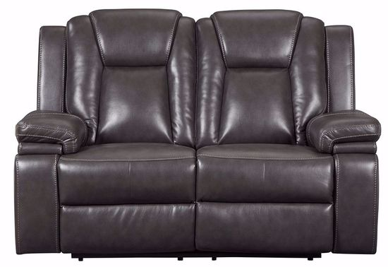 Picture of Garristown Gray Brown Power Reclining Loveseat