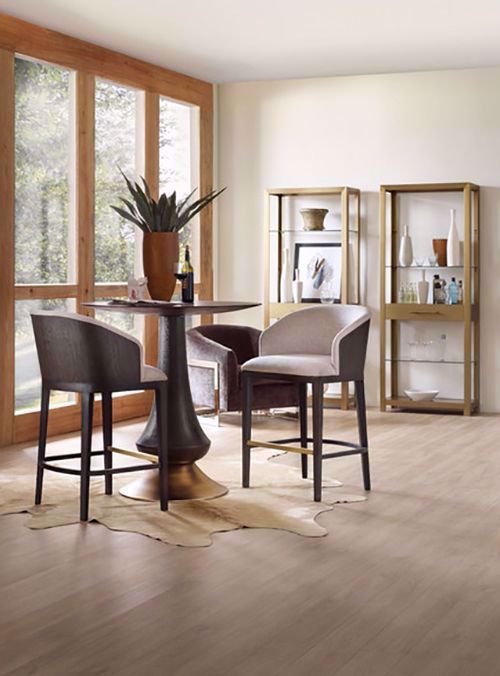 Picture of Curata Pub Table and Two Upholstered Barstools