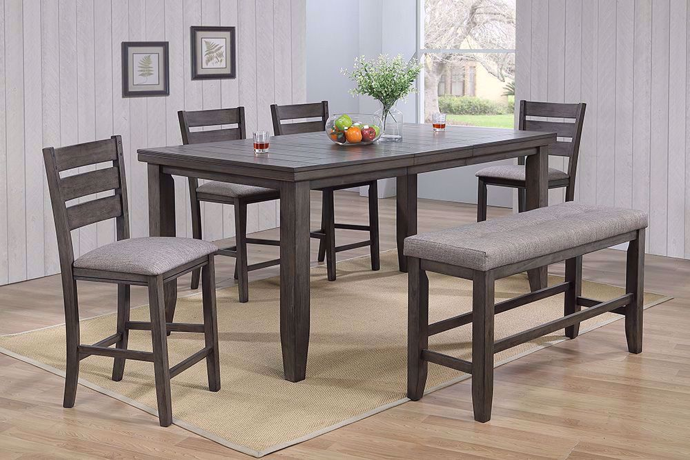Picture of Bardstown Counter Table with Four Stools and One Bench