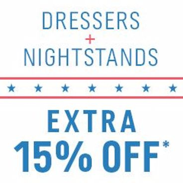Dressers + Nightstands | Extra 15% off*
