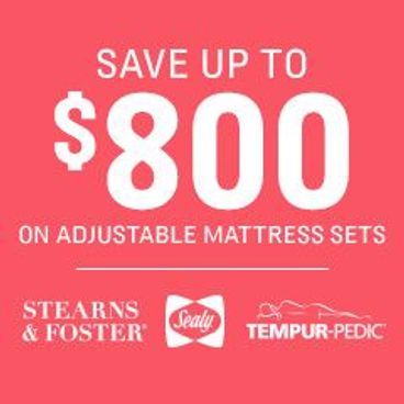 Save Up to $800 on Adjustable Mattress Sets