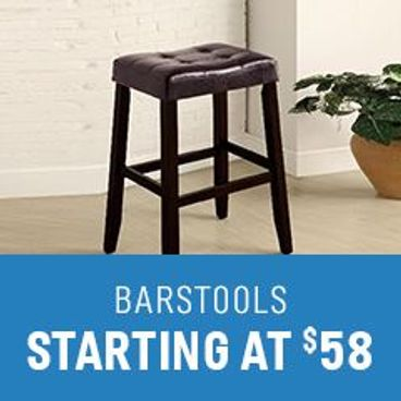 Bar Stools starting at $58