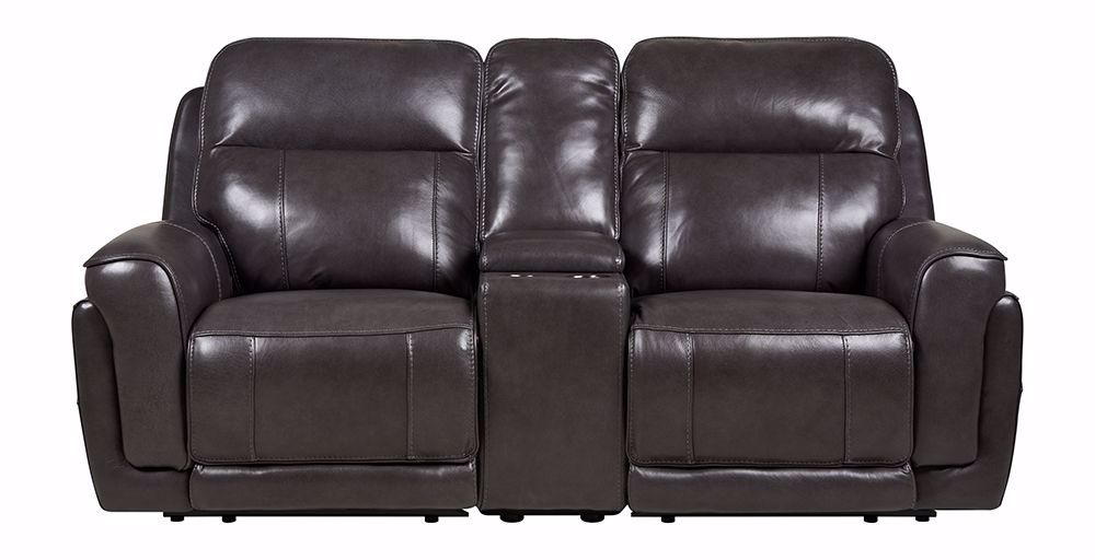 Picture of Henry Steel Power Headrest Recliner Console Loveseat