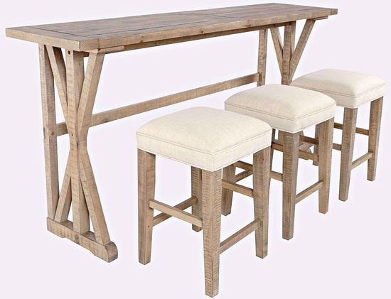 Picture of Carlyle Sofa Table and Three Stools