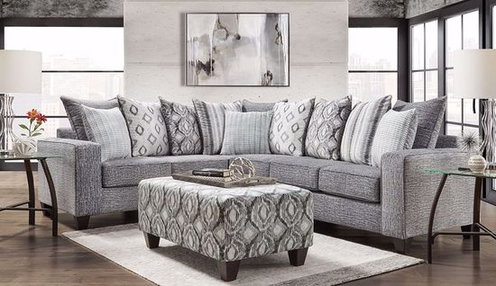 Picture of Melanie Charcoal Accent Ottoman