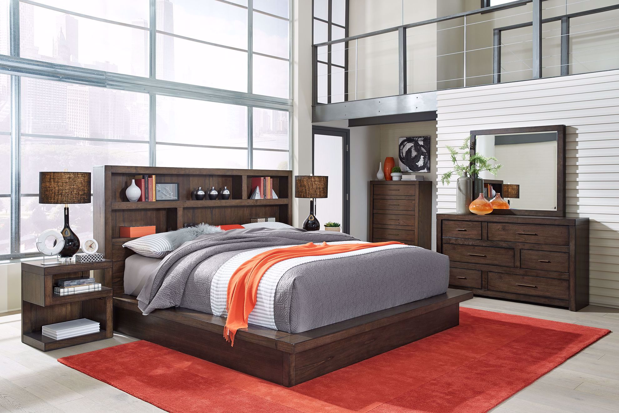 Picture of Modern Loft Brown King Platform Bedroom Set