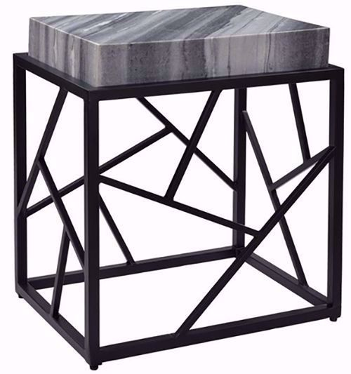 Picture of Shades of Gray Marble and Black Table