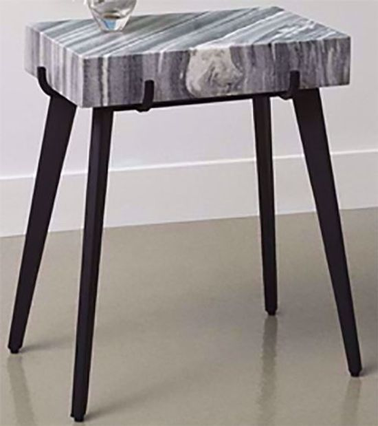 Picture of Grey and Black Accent Table