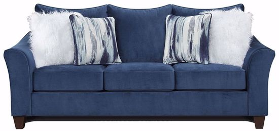 Picture of Velour Navy Sofa