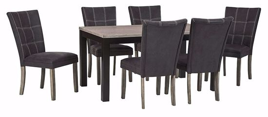 Picture of Dontally Rectangle Dining Table with 6 Chairs