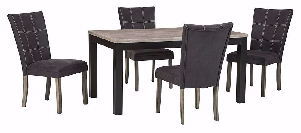 Picture of Dontally Rectangle Dining Table with 4 Chairs