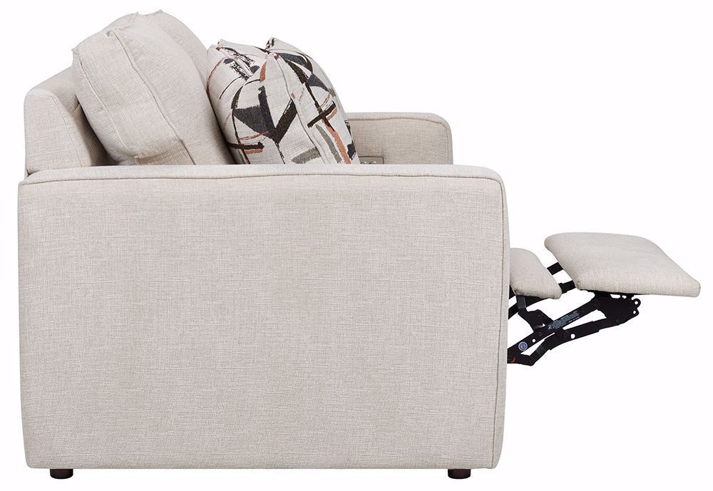 Picture of Scholar Ecru Power Reclining Loveseat