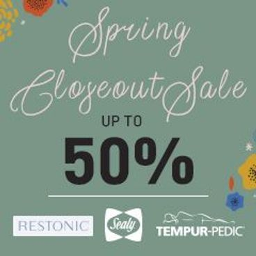 Spring Closeout Sale Up to 50% off