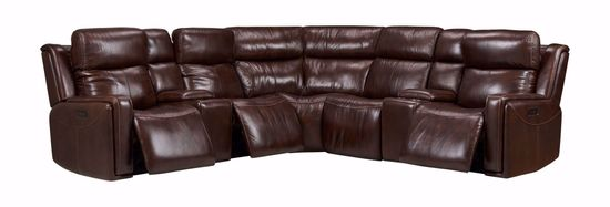 Picture of Aspen Espresso 7-Piece Power Reclining Sectional
