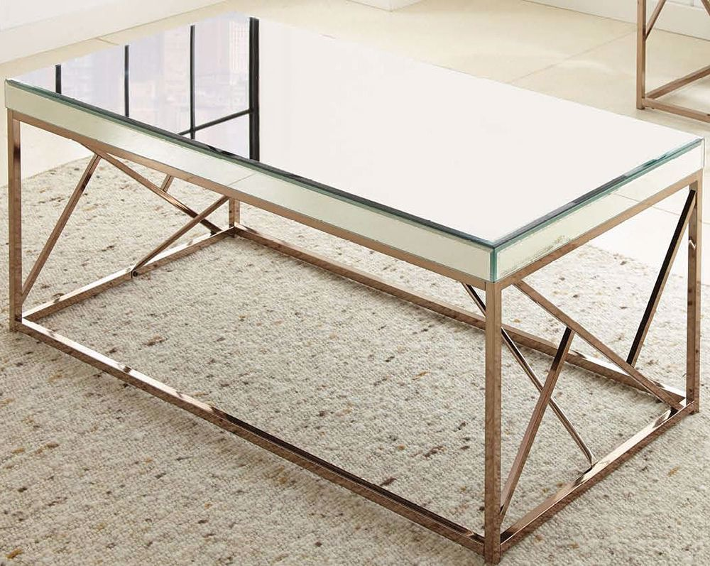 Picture of Evelyn Mirror Top Cocktail Table
