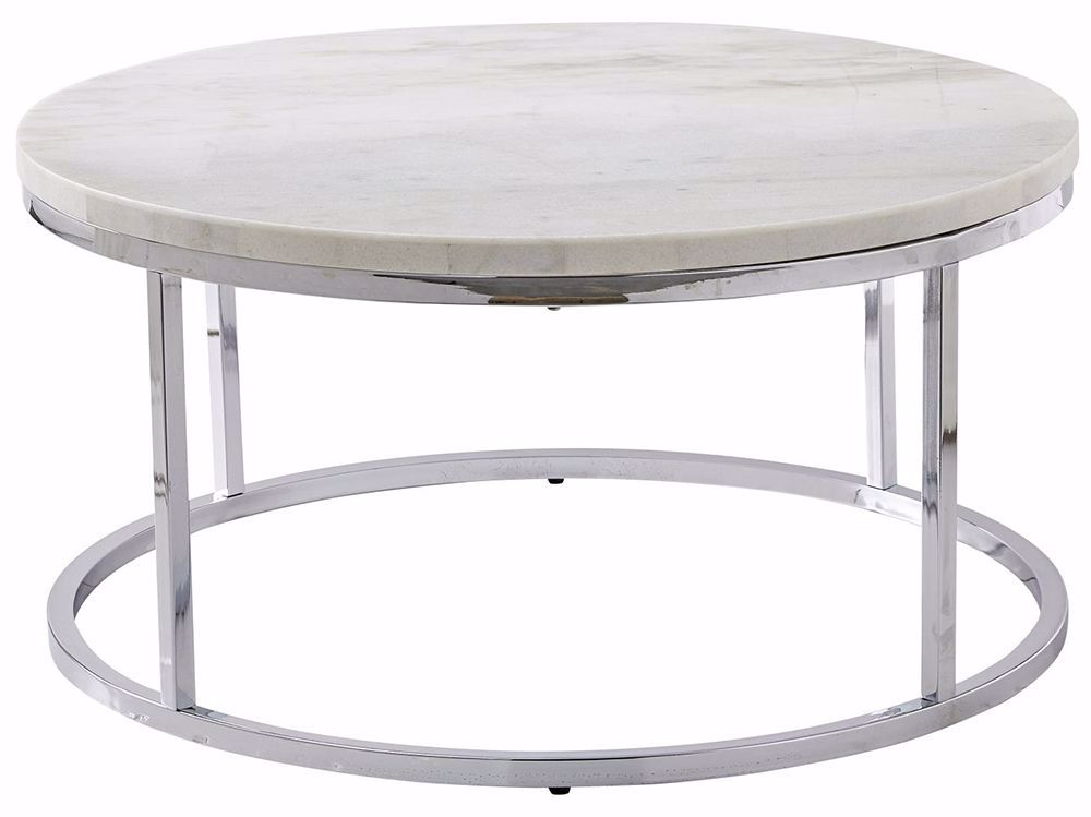 Picture of Echo White Marble Top Cocktail Table