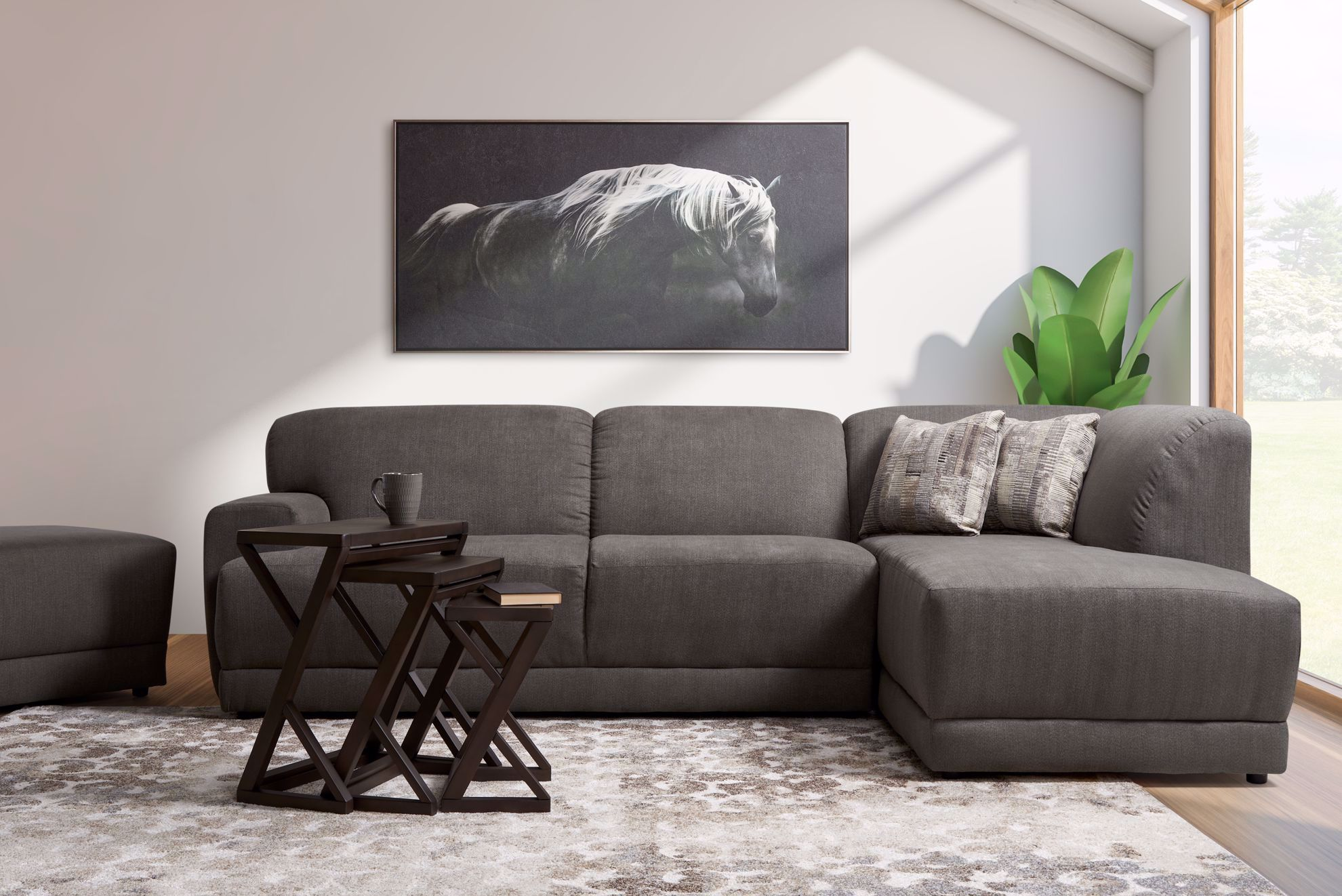 Picture of Diver Coal 2-Piece Sectional