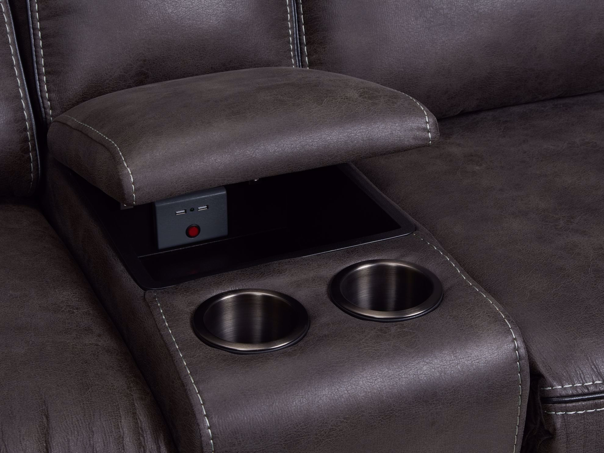 Picture of Gemma Granite Power Loveseat With Console