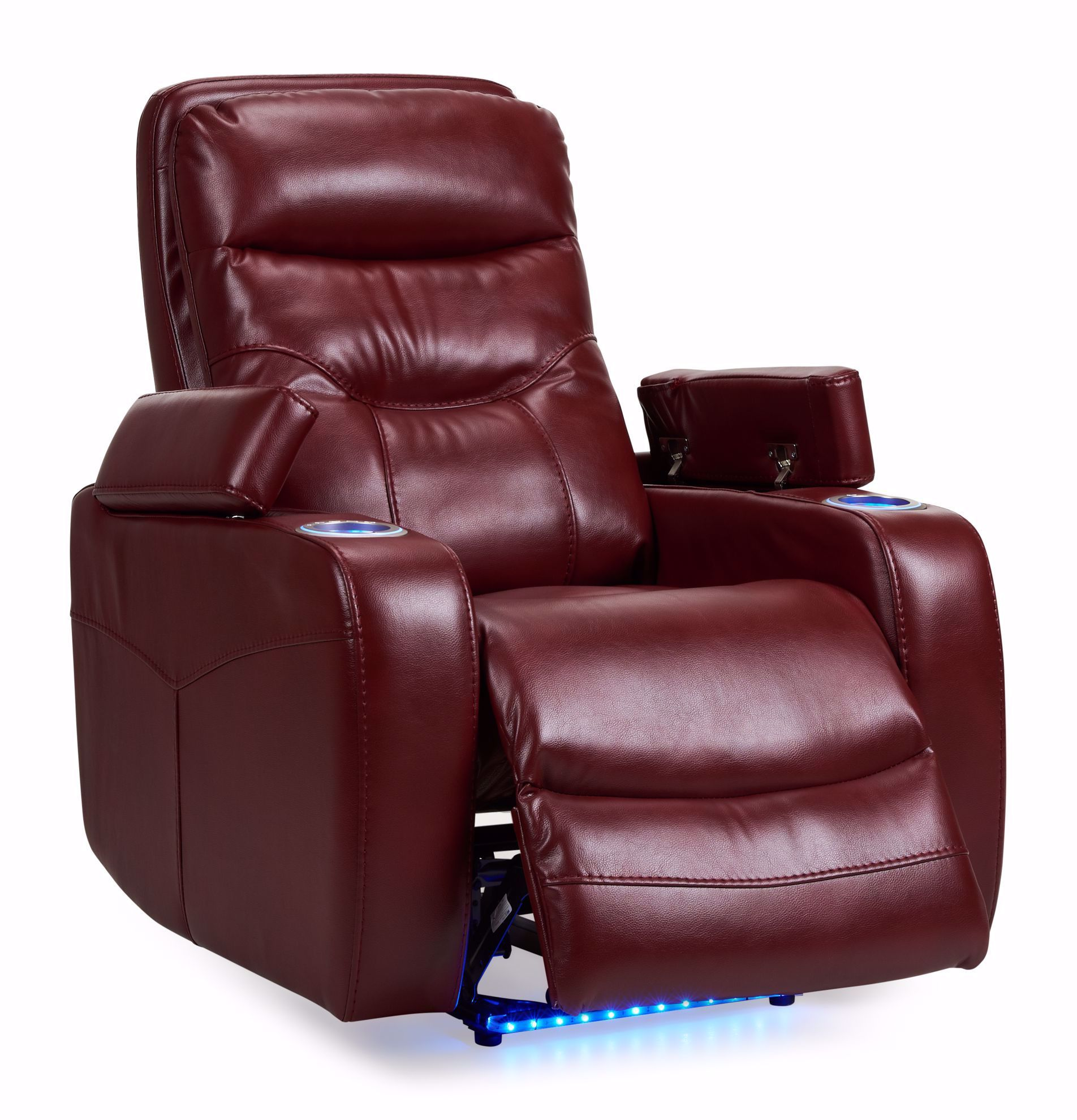 Picture of Odessa Red Power Recliner With Lights