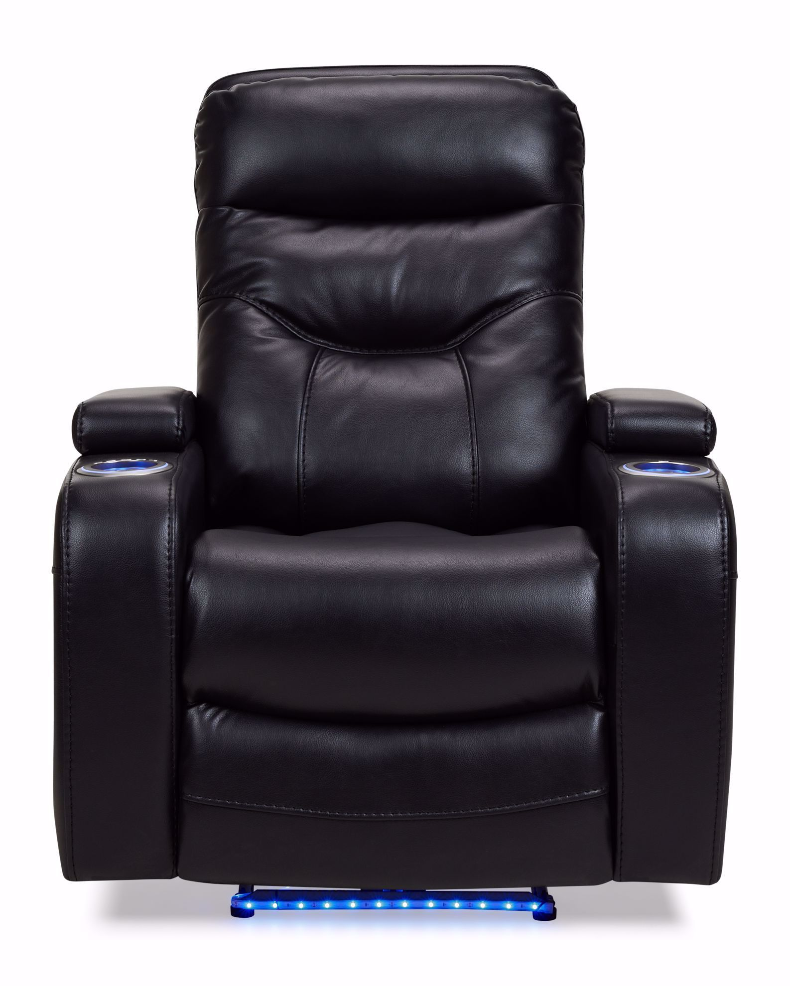 Picture of Oslo Black Power Recliner With Lights