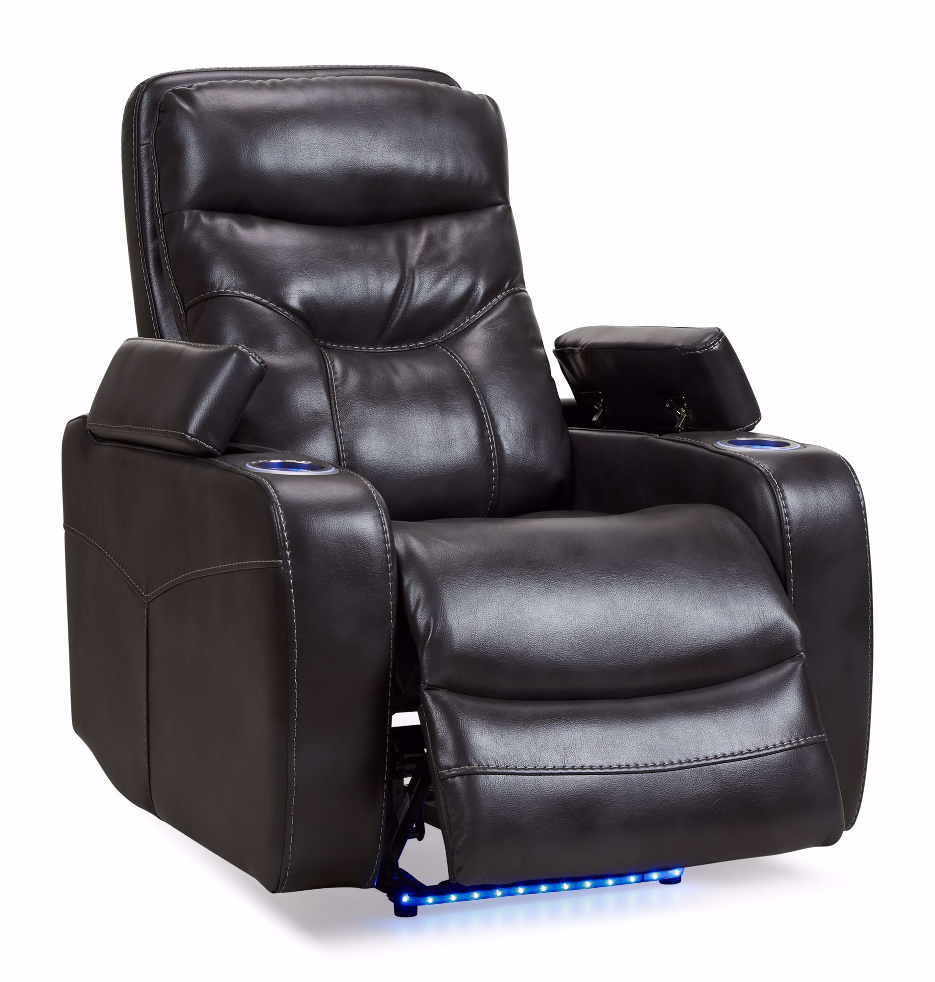 Picture of Oxford Slate Power Recliner With Lights