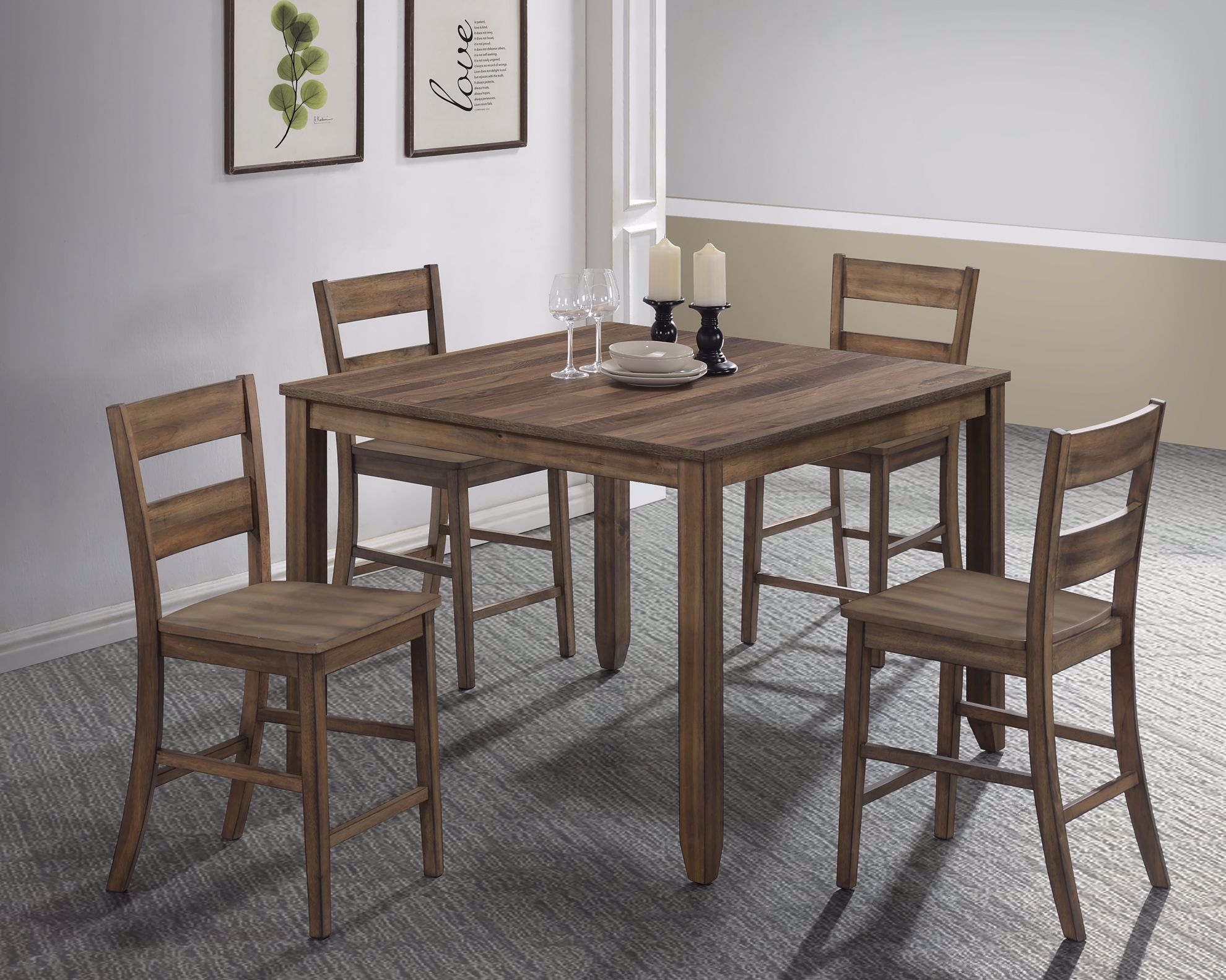 Picture of Sean Melamine Counter Table and Four Stools