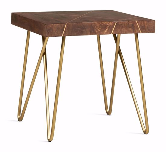 Picture of Walter Brass Inlay End Table