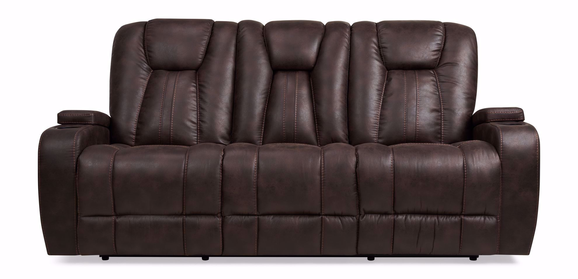 Picture of Mason Brown Reclining Sofa With Drop Down Table