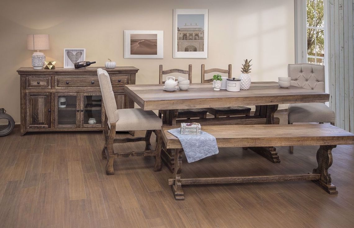 "Picture of Marquez 24"" Wooden Counter Height Bench"